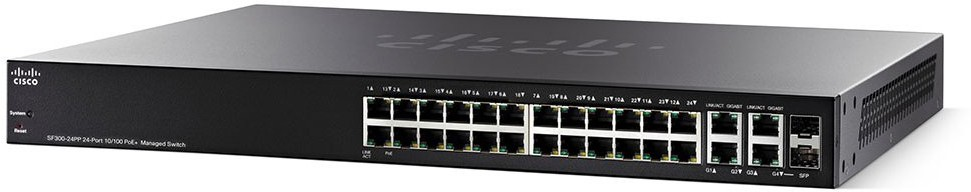 Cisco SF300-24PP-K9 Network Switch(Black)