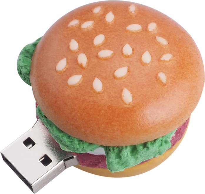 View Microware Burger Shape 16gb Pendrive 16 GB Pen Drive(Brown)  Price Online