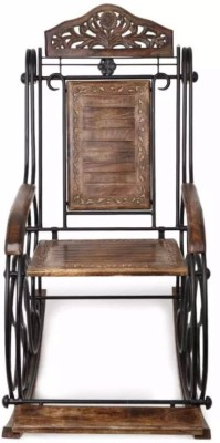 Onlineshoppee Solid Wood 1 Seater Rocking Chairs(Finish Color - Brown)