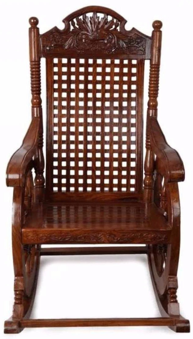 Astounding Buy Onlineshoppee Solid Wood 1 Seater Rocking Chairs Finish Dailytribune Chair Design For Home Dailytribuneorg