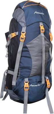 Attache 1025R Hiking Backpack (Navy Blue) With Rain Cover Rucksack - 75 L(Blue, Grey)
