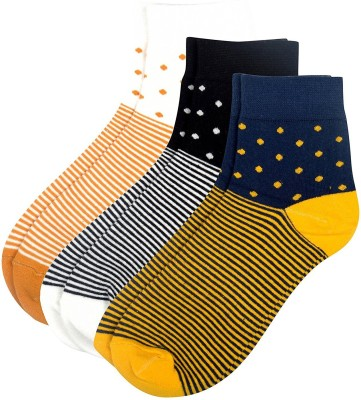 Viral Girl Men & Women Striped Ankle Length Socks(Pack of 3)