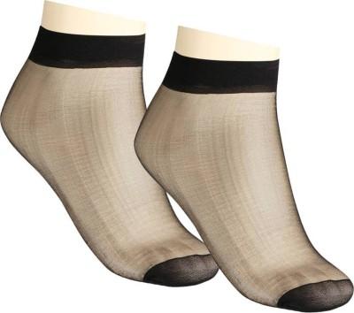 iShop Women Solid Ankle Length Socks at flipkart