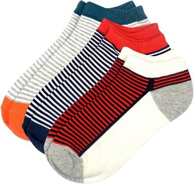 Viral Girl Men & Women Striped Low Cut Socks(Pack of 3)