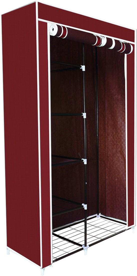View Birdy Fabric 1 Door Modular Wardrobe(Finish Color - Maroon) Furniture (Birdy)