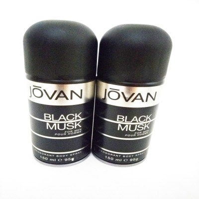Jovan Black Musk Deodorant Spray - For Men(300 ml)