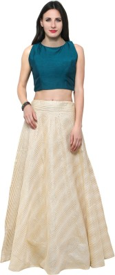 inddus Cotton Self Design Semi-stitched Lehenga Choli Material