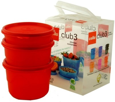 Cello Club 3 3 Containers Lunch Box(750 ml)