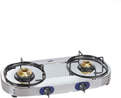 Glen Glen GL 1026 SS Gas Cook Top Stainless Steel Manual Gas Stove(2 Burners)