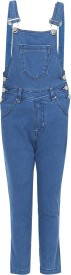 FirstClap Dungaree For Boys Casual Solid Denim(Light Blue, Pack of 1)
