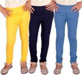 DIAZ Legging For Girls(Multicolor Pack of 3)