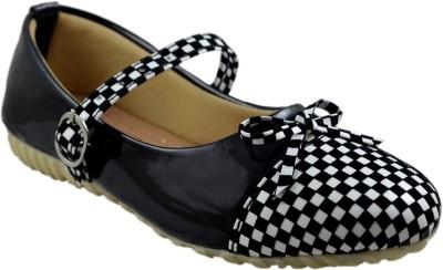 Leatherwood1 Girls Slip on Ballerinas(Black)