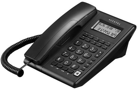 View Alcatel T-37 Corded Landline Phone(Black) Home Appliances Price Online(Alcatel)