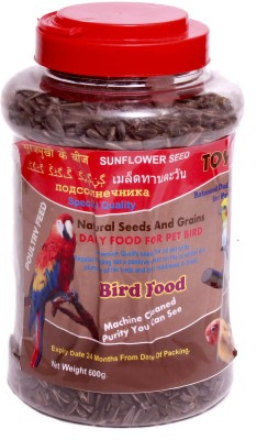 toya Natural Sunflower Seed NA Bird Food(600 g Pack of 1)