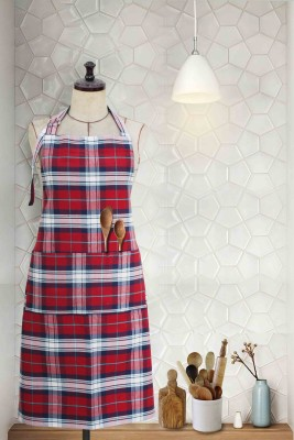 Milano Home Cotton Chef's Apron - Free Size(Red, Single Piece) at flipkart