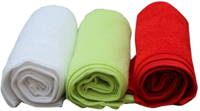 micro Microfiber Hand Towel(Pack of 3, Multicolor)