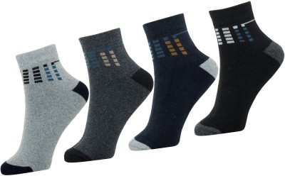 Neska Moda Men Solid Ankle Length Socks(Pack of 4)