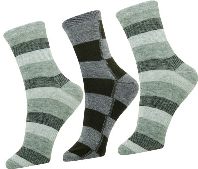 Neska Moda Men Striped Ankle Length Socks(Pack of 3)