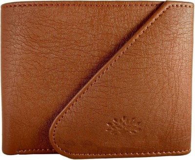 Wildantler Boys Tan Artificial Leather Wallet(5 Card Slots)