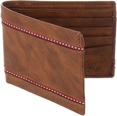 MARKQUES Men Tan Artificial Leather Wallet(8 Card Slots)