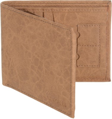 MARKQUES Men Beige Artificial Leather Wallet(11 Card Slots)