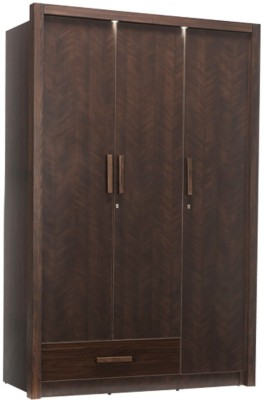 Durian MARK Engineered Wood 3 Door Wardrobe(Finish Color - Dark Cherry)