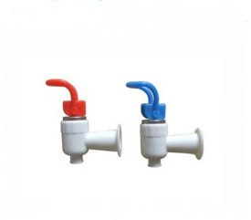 PK Aqua -4 Pcs Water Dispenser Plastic(Blue,Red) Handle White Tap for Water Filters- Solid Filter Cartridge(0.5, Pack of 2)