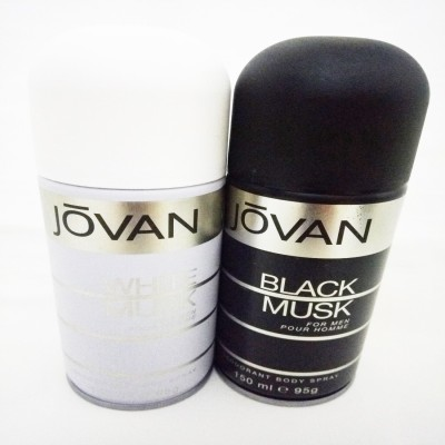 Jovan White MuskIIBlack Musk Deodorant Spray - For Men(300 ml)