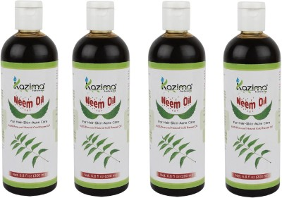 Kazima Neem Carrier Oil 100% Pure Natural Carrier oil & Undiluted Cold Pressed Refined Cosmetic Grade For Aromatherapy Hair Oil(800 ml) at flipkart