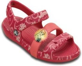 CROCS Boys & Girls Sling Back Sports Sandals(Pink)