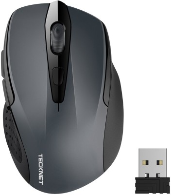 Tecknet M003 pro wireless mouse Wireless Optical  Gaming Mouse(Bluetooth, Grey) at flipkart