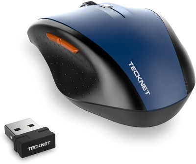 Tecknet M002wireless mouse Wireless Optical  Gaming Mouse(Bluetooth, Blue) at flipkart