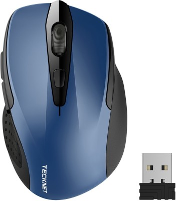 Tecknet M003 pro wireless mouse Wireless Optical  Gaming Mouse(Bluetooth, Blue) at flipkart