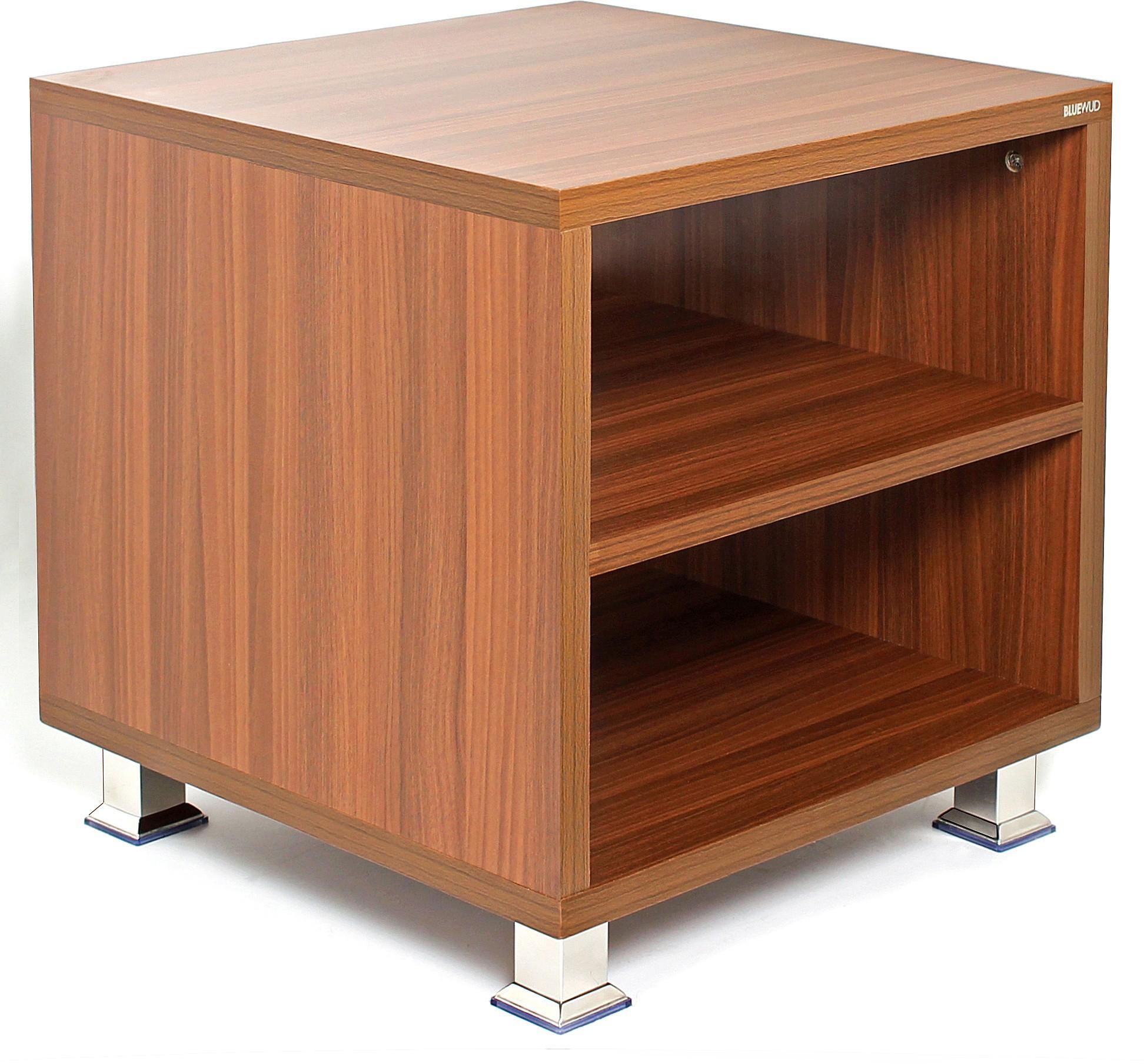 View Bluewud Leo Engineered Wood Side Table(Finish Color - Walnut) Furniture (Bluewud)