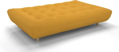 Urban Ladder Palermo Sofa Cum Bed Double Engineered Wood Sofa Bed(Finish Color - Yellow Mechanism Type - Fold Out)