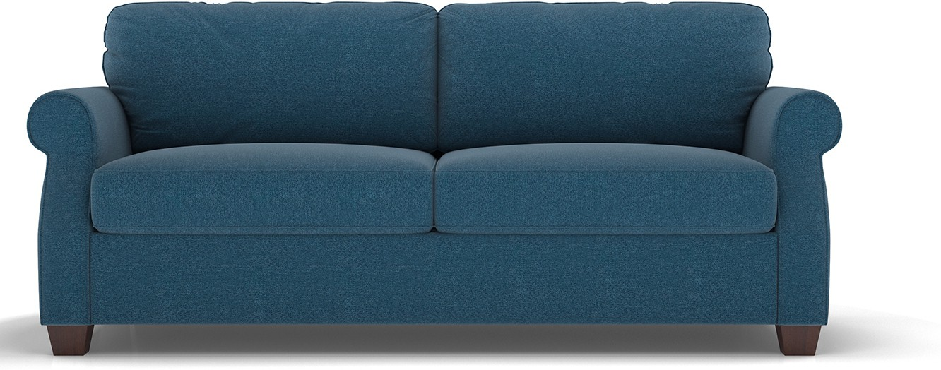Urban Ladder Hyde Sofa Cum Bed With Mattress Double Engineered Wood Sofa Bed(Finish Color - Blue Mechanism Type - Pull Out)