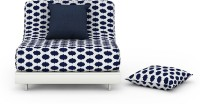 Urban Ladder Finn Futon Sofa Cum Bed Double Fabric Sofa Bed(Finish Color - Inkblot Blue Mechanism Type - Fold Out)