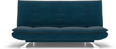 Urban Ladder Edo Sofa Cum Bed Double Engineered Wood Sofa Bed(Finish Color - Blue Mechanism Type - Fold Out)