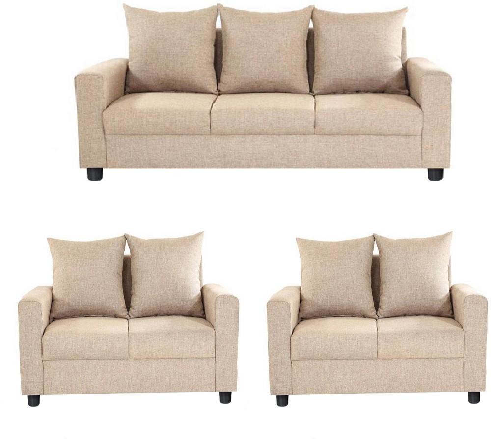 Gioteak Solid Wood 3 2 2 Beige Sofa Set Furniture Price In