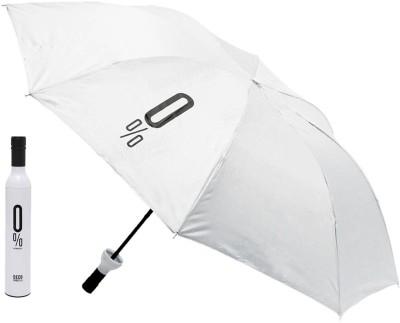 Home Story Home Story Fashionable Wine Bottle White 110 cm Travel Umbrella Umbrella(White)