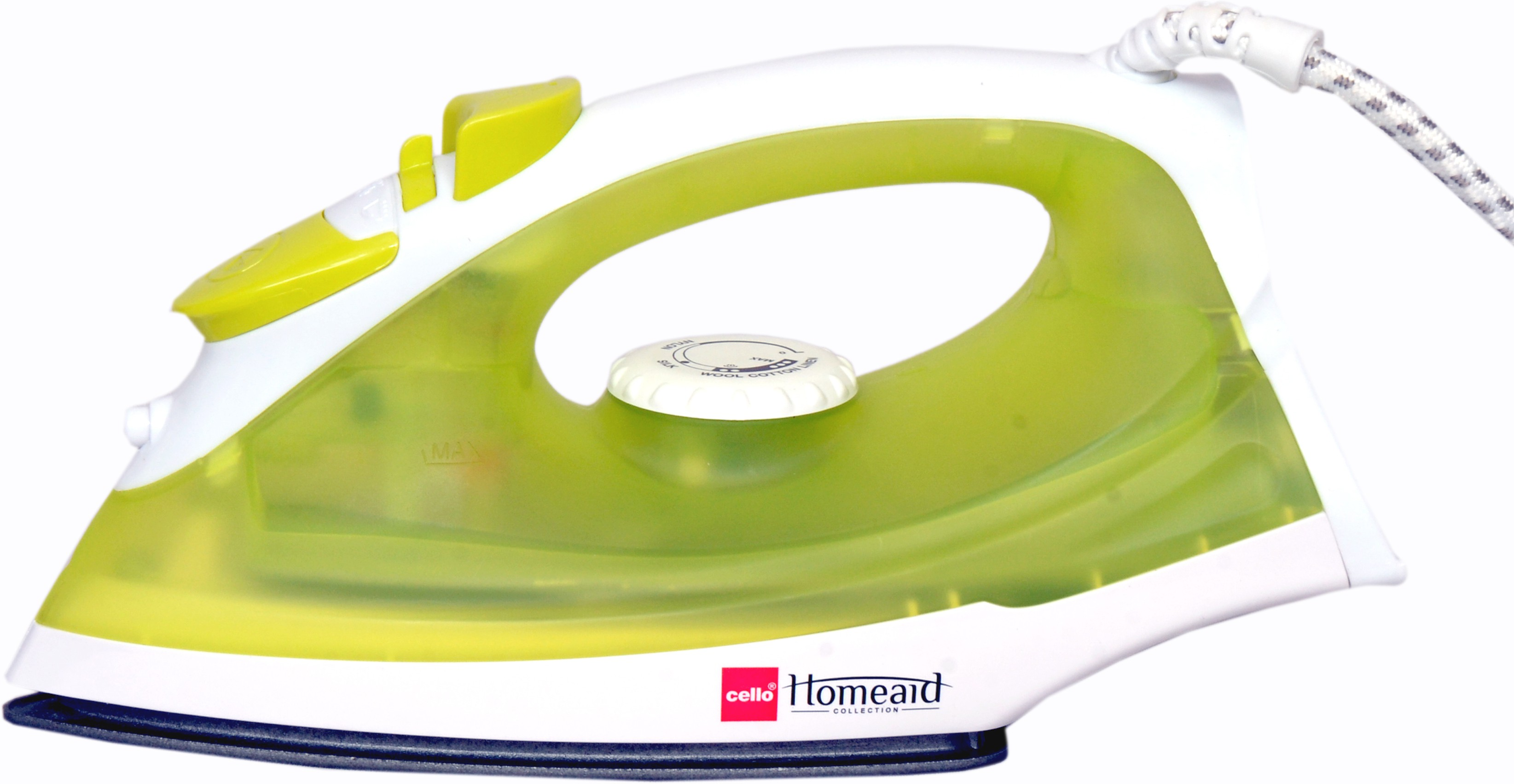 View Cello Steamy Iron 100 A (1250W) Green +1 Rechargeable Torch Free Steam Iron(Green) Home Appliances Price Online(Cello)