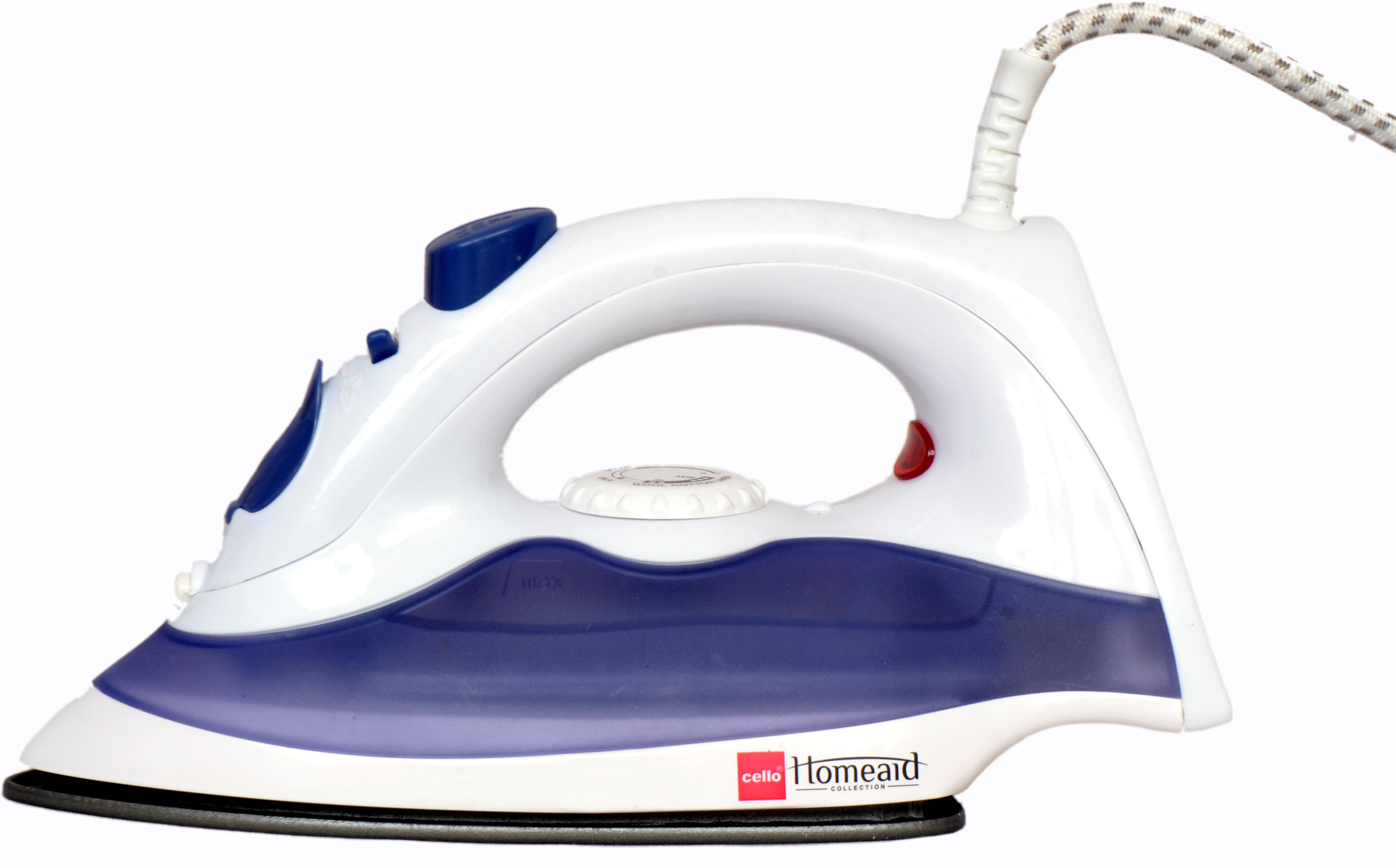 View Cello Cello Steamy Iron 300 (1250W) Violet + 1 Rechargeable Torch Free Steam Iron(Purple) Home Appliances Price Online(Cello)