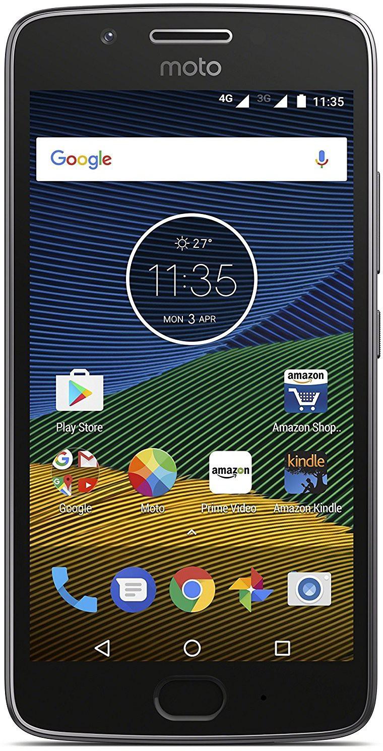 View Moto G5 (Lunar Grey, 16 GB)(3 GB RAM) Mobile Price Online(Motorola)
