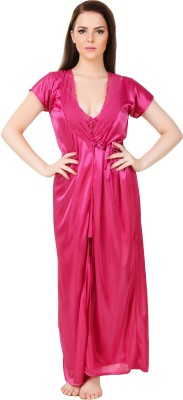 Bombshell Women Nighty with Robe(Pink) at flipkart