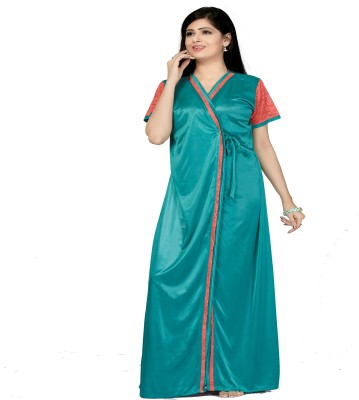 Bombshell Women Nighty with Robe(Multicolor) at flipkart