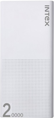 Intex IT-PB 20K Poly 20000 mAh Power Bank(White, Lithium Polymer)