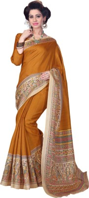 Saara Paisley, Printed Daily Wear Khadi, Silk Saree(Multicolor) at flipkart