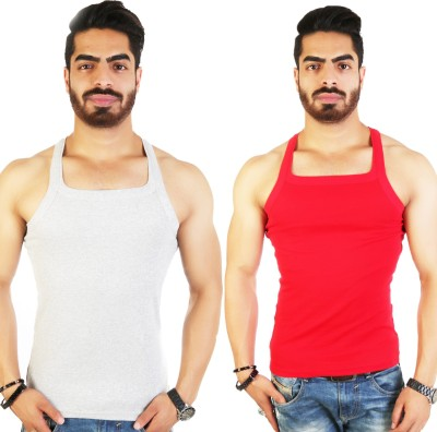 WHITE MOON Men Vest(Pack of 2)