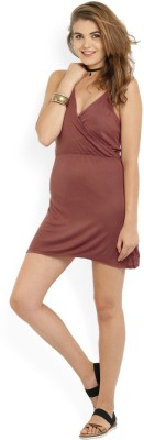 ALCOTT Women Empire Waist Brown Dress at flipkart