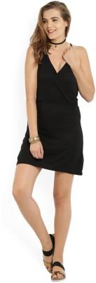 ALCOTT Women Empire Waist Black Dress at flipkart